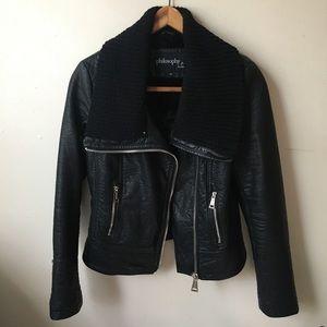Philosophy motorcycle jacket with turtle neck